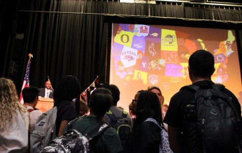 Pioneer holds first College Decision Day assembly