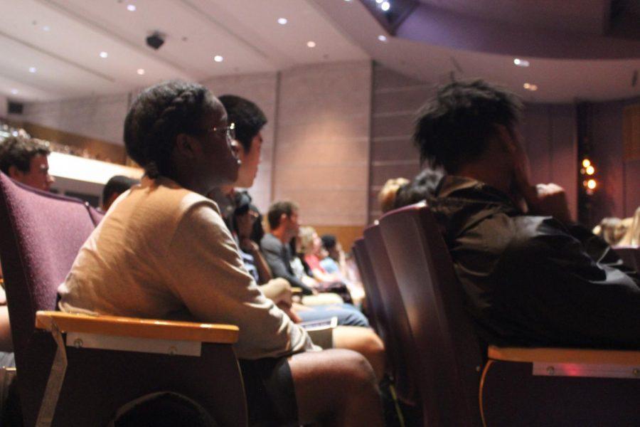 Students listen.