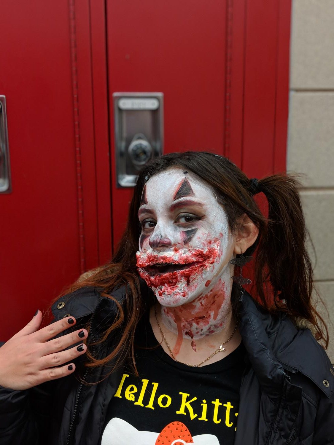 "Eilyn Gonzalez (Junior) dressed up as Joker : ""For a while I have dressed up in cute costumes, but I wanted to change it up this year and go scary."""