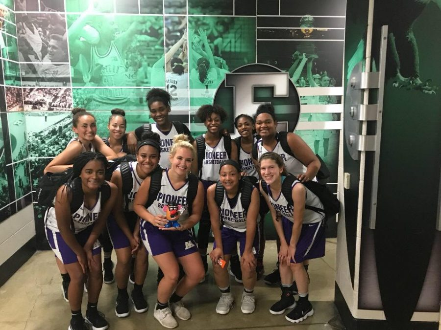 Womens basketball works for speed