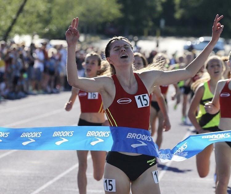 Zofia Dudek is running toward gold