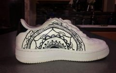 Morgeson's shoe design above is based on Mandalas in black and white to provide contrast.