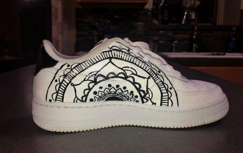 Student builds business by customizing shoes with art