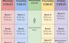 The final exam schedule for 1st semester.