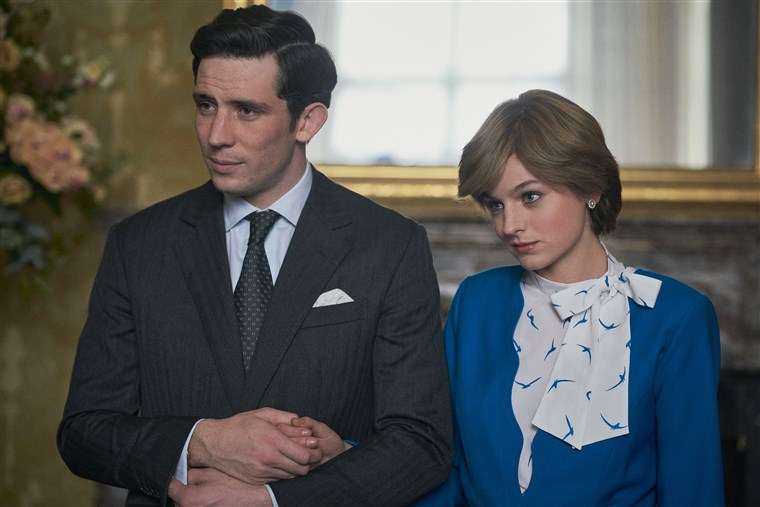 Emma Corrin takes on the role of the late Princess Diana in The Crown. (Image courtesy of Netflix)
