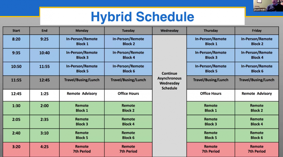The most recently released hybrid schedule stated to begin on April 19th. (Photo courtesy of AAPS)