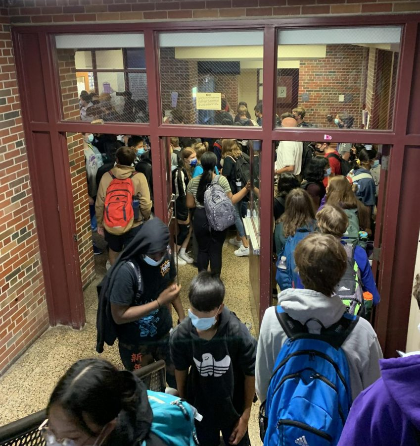 Many underclassmen worry about getting lost in the hallways of Pioneer.