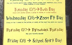The official list of spirit week themes.